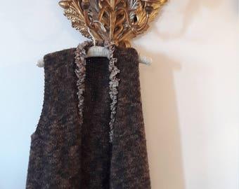italian handmade knit gilet
