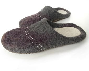 Men Women felted slippers, house shoes, woolen clogs -gift for you and your loved one