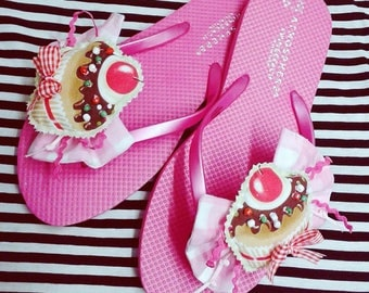 Handmade flip flops - summer sandals