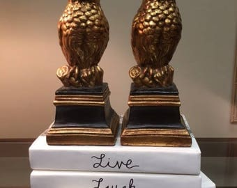 Gold Owl Bookends