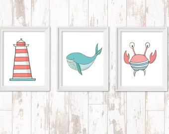 Sea Animal Print set 3