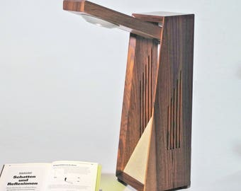 Desk lamp, table lamp, wood lamp