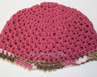 Girls Pink & Camo Hat