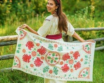 "Silk shawl ""Destiny"""