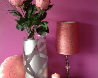 Large up cycled silver vase