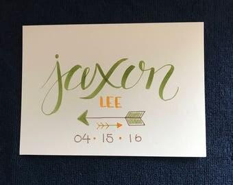Print   Name & Birthday Print