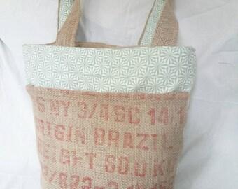 """Handbag canvas of Jute """"Café Do Brasil"""""""