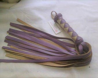 Lilac 24 fall Leather BDSM Flogger