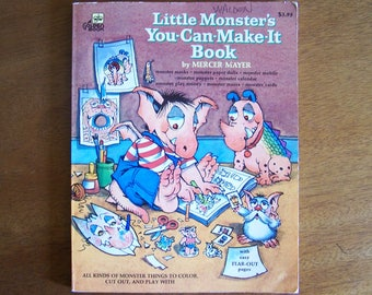 Little Monster's You-Can-Make-It Book by Mercer Mayer - Children's Book - Activity Book