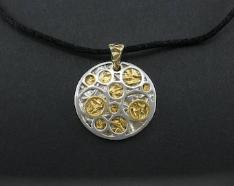 M 11 Handmade silver necklace gold plated