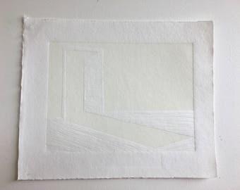 Light Leak Linocut