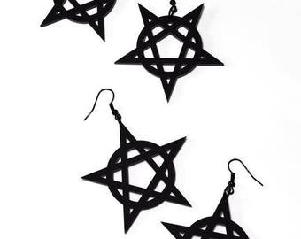 Spike Pentagram Earrings - Standard/Inverted