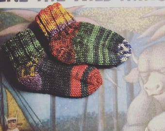 Max: Hand Knit baby and children's socks. Canadian Hand-Dyed Merino wool