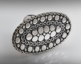 Stunning Sterling Silver Statement Ring