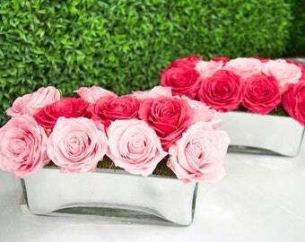 Infinite Roses - Beveled Glass