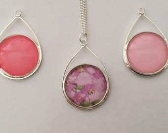 Tear Drop Pendant in Pretty Floral necklace