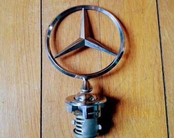 Mercedes Emblem, Hood Ornament, Vintage, Collectable