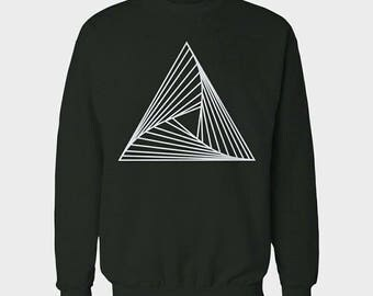 Geometric sustainable crewneck sweater with minimalistic design | 100% Organic cotton