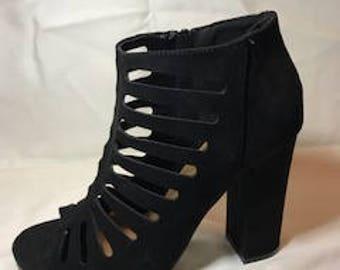 """Black Thick 3"""" Heel, Zapato Alto de 3 pulgadas, Zapatos para verano, Summertime"""