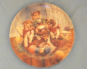 Collector Plate All Tied Up, Little Bandits by Bradford Exchange