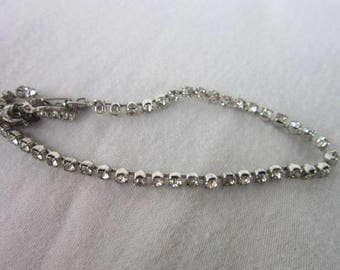 Vintage Rhinestone Diamond Like Tennis Bracelet