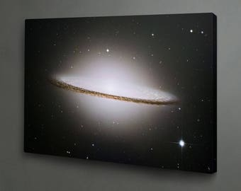 Sombrero Galaxy photo print on canvas