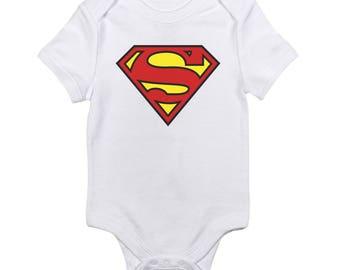 Superman Logo Baby Onesie