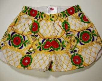 White Embroidered Silk Shorts