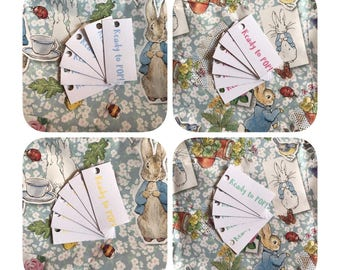 Ready to POP tags (set of 24) - baby shower, mint, blue, yellow & pink
