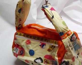 Cylinder bags, hand bag, sports bag, color mix,