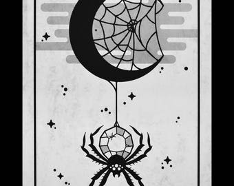 Crystal Spider Screenprint