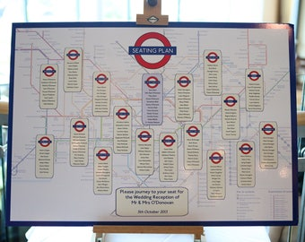 London Underground Table Plan