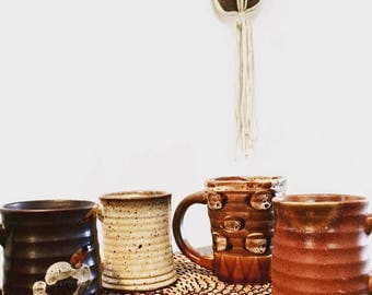 Set of vintage mugs | Pottery mug | Ceramic mug