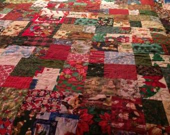 Christmas Ca King quilt Reversable