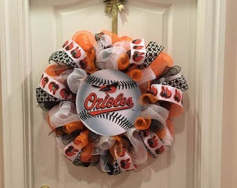 Hand Crafted Orioles Decorative Wreath!!