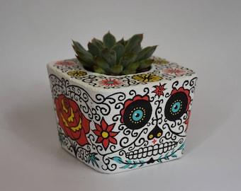 Dia de los Muertos (Day of the Dead) Concrete Planter