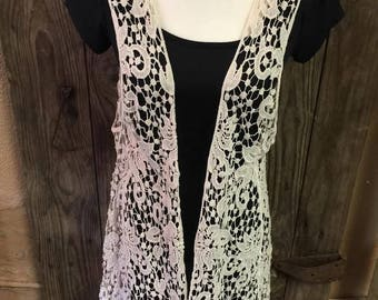 Lace Vest!!! Dress any outfit with this cute vest