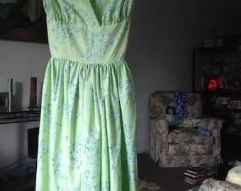 Vintage bed sheet dress