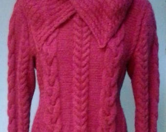 CRIMSON SWEATER, knitted, hand made