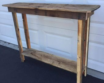 Custom re-claimed wooden narrow coffee table