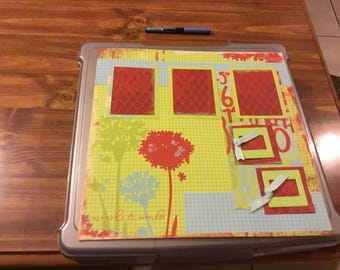 12 x12 Green and Red Single Page Layout