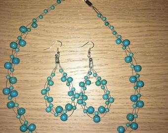 Handmade Jewerly Set Necklace Plus Earrings