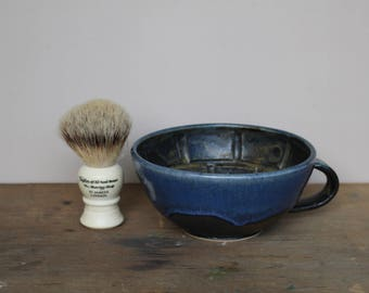 Black and Blue Wet Shaving Bowl - UK
