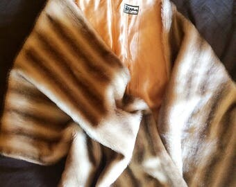 Sassy and glamorous 1950s vintage faux mink stole