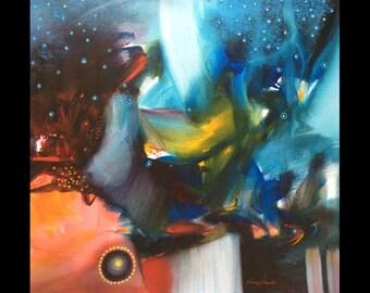 Janos Kardos Universe Original on Canvas