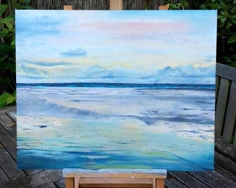 Oil painting seascape - 40x50 cm / 16 x 20 inch - original artwork - sea painting - water painting - colorful painting - wall art - handmade
