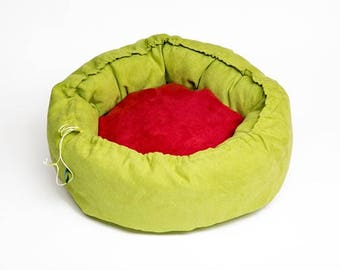 Basket for pets, round - Ø 50 cm Heatable with grains pillow
