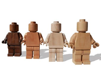Lego Art Man - Large wood sculpture