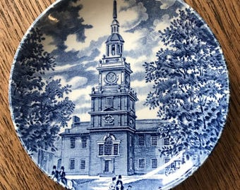 Vintage Liberty Blue China Plate
