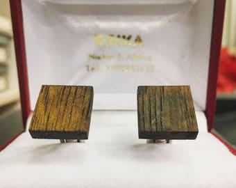 Wooden cuflinks / cufflinks for men/ cufflink / wood cufflinks/ square cuff
